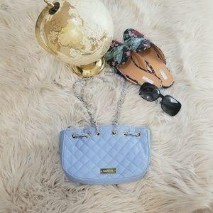 Bebe purse Baby Blue & gold